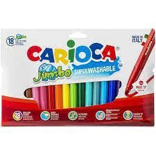 ROTULADORES CARIOCA JUMBO 18 COLORES 6MM