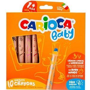 CREYONES CARIOCA BABY 10 COLORES 1 AÑO+