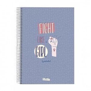 CUADERNO TALKUAL A4 LILA FIGHT LIKE A GIRL 8821007