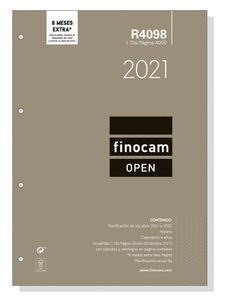 R4098 RECAMBIO AGENDA FINOCAM DP 4000 VERTICAL 2021