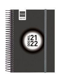 AGENDA ESCOLAR ESPIR E8 1DP NEGRO 2021-22 FINOCAM