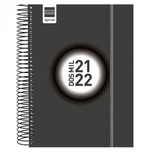 AGENDA ESCOLAR ESPIR E10 1DP NEGRO 2021-22 FINOCAM