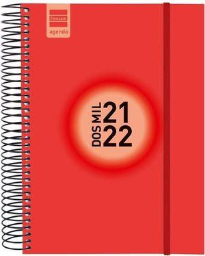 AGENDA ESCOLAR ESPIR E10 1DP ROJO 2021-22 FINOCAM