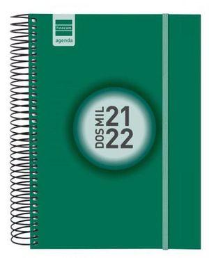 AGENDA ESCOLAR ESPIR E10 1DP VERDE 2021-22 FINOCAM