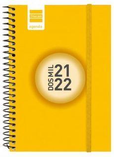 AGENDA ESCOLAR ESPIR E10 1DP AMARILLO 2021-22 FINOCAM