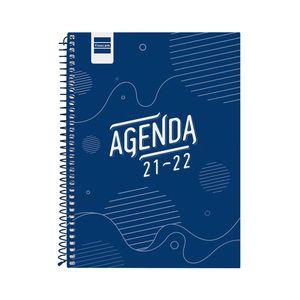 AGENDA ESCOLAR COOL 1/4 SV 2021-22 AZUL FINOCAM
