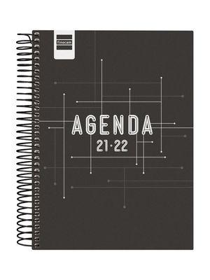 AGENDA ESCOLAR COOL 1/4 1DP 2021-22 NEGRO FINOCAM