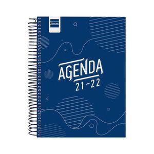 AGENDA ESCOLAR COOL 1/4 1DP 2021-22 AZUL FINOCAM