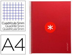 CUADERNO ESPIRAL A4 5MM MICRO LIDERPAPEL ANTARTIK KB19 161809 ROJO