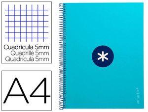 CUADERNO ESPIRAL A4 5MM MICRO LIDERPAPEL ANTARTIK KB26 161816 AZUL CELESTE