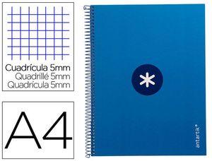 CUADERNO ESPIRAL A4 5MM MICRO LIDERPAPEL ANTARTIK KB27 161817 AZUL