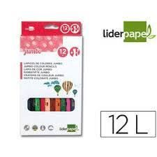LAPICES COLORES (12) LIDERPAPEL CARTON 34245