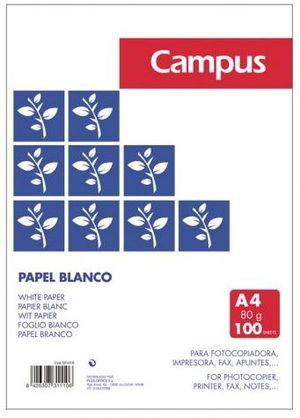 PAQUETE PAPEL 100H A4 80G CAMPUS
