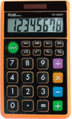 CALCULADORA BOLSILLO PLUS OFFICE 8D SS-165 NARANJA