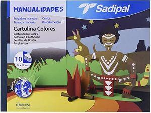 BLOC CARTULINAS COLORES FOLIO 10H SADIPAL