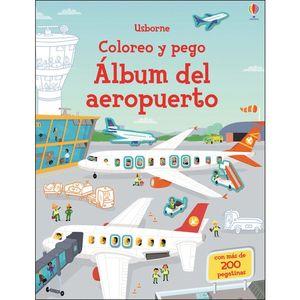 ALBUM DEL AEROPUERTO. COLOREO Y PEGO