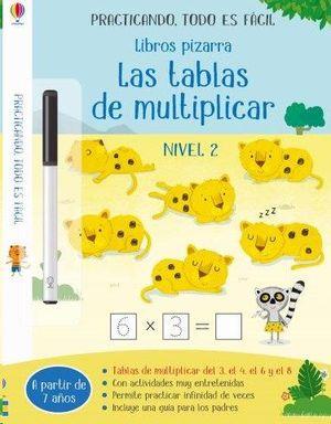 LIBROS PIZARRA TABLAS DE MULTIPLICAR 2
