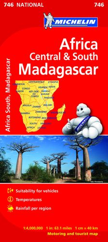 746 MAPA NATIONAL ÁFRICA CENTRO-SUR, MADAGASCAR 2019 MICHELIN