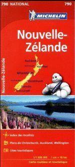 790 MAPA NATIONAL NUEVA ZELANDA MICHELIN