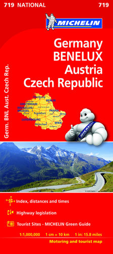 719 MAPA NATIONAL ALEMANIA BENELUX AUSTRIA REPUBLICA CHECA2019 MICHELIN