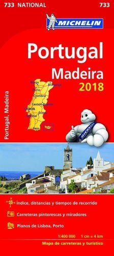 733 MAPA PORTUGAL MADEIRA 2018 CARRETERAS