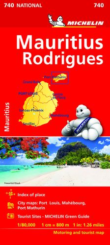 740 MAPA NATIONAL ISLAS MAURICIO 2019 MICHELIN
