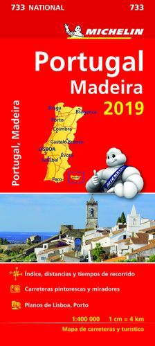 733 MAPA NATIONAL PORTUGAL MICHELIN 2019