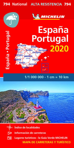 794 MAPA NATIONAL ESPAÑA - PORTUGAL 2020