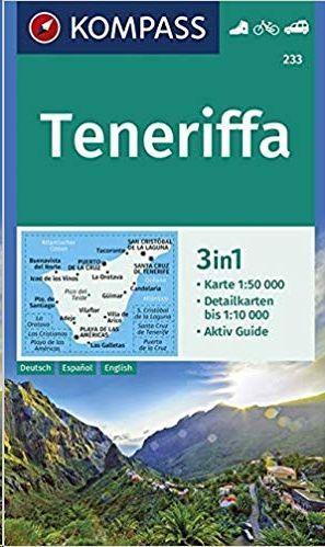 TENERIFE MAPA KOMPASS ALEMAN 3 EN 1 1:500000