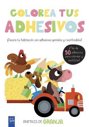 COLOREA TUS ADHESIVOS. ANIMALES DE GRANJA