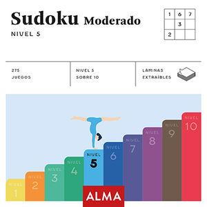 SUDOKU MODERADO. NIVEL 5 (CUADRADOS DE DIVERSIÓN)