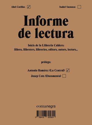 INFORME DE LECTURA