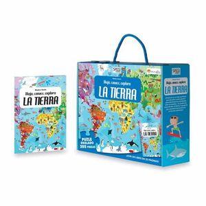 LA TIERRA VIAJA, CONOCE, EXPLORA PUZZLE + LIBRO