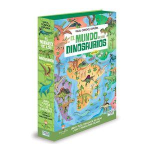 EL MUNDO DE LOS DINOSAURIOS PUZZLE + LIBRO