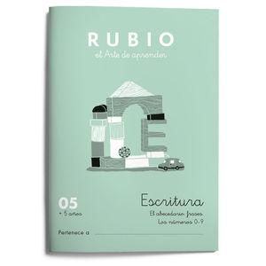 05. CUADERNO ESCRITURA RUBIO. ABECEDARIO FRASES NUM 4 5 6 7 8 9 0