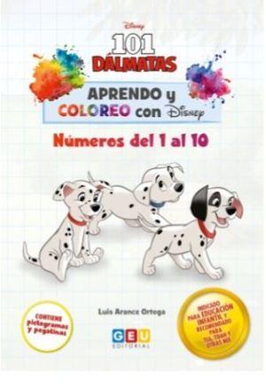 APRENDO Y COLOREO CON DISNEY DEL 1 AL 10