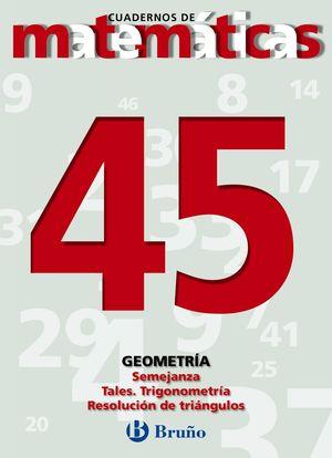 CUADERNO DE MATEMATICAS 45 BRUÑO GEOMETRIA