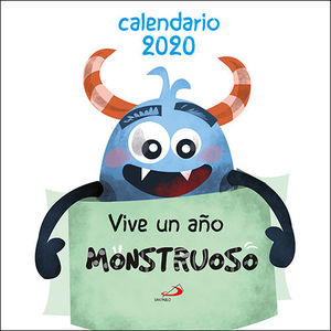 CALENDARIO 2020 DE PARED VIVE UN AÑO MONSTRUOSO 2020