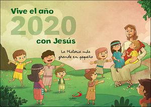 CALENDARIO PARED VIVE EL AÑO 2020 CON JESÚS