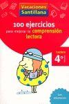 CUAD COMPRENSION LECTORA 4º VACACIONES PRIMARIA