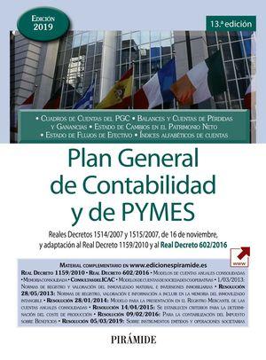 2019 PLAN GENERAL DE CONTABILIDAD Y DE PYMES