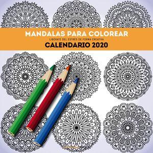 CALENDARIO MANDALAS PARA COLOREAR 2020