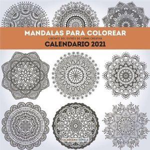 CALENDARIO MANDALAS PARA COLOREAR 2021