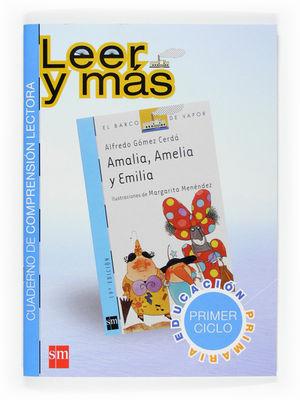SALDO CUADERNO AMALIA, AMELIA Y EMILIA COMPRENSIÓN LECTORA BARCO DE VAPOR SM