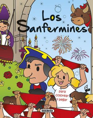 LOS SANFERMINES PARA COLOREAR Y PEGAR