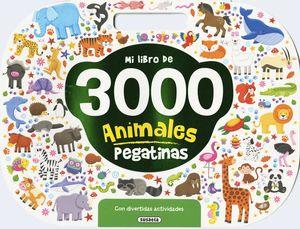 MI LIBRO DE 3000 PEGATINAS ANIMALES CON DIVERTIDAS ACTIVIDADES