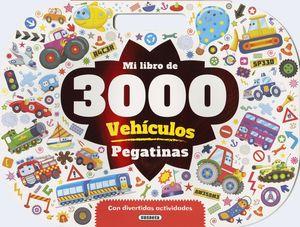 MI LIBRO DE 3000 PEGATINAS VEHÍCULOS CON DIVERTIDAS ACTIVIDADES