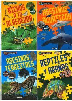 ANIMALES INCREÍBLES CON PEGATINAS (4 TÍTULOS)