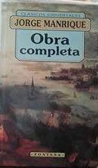 OBRA COMPLETA. JORGE MANRIQUE
