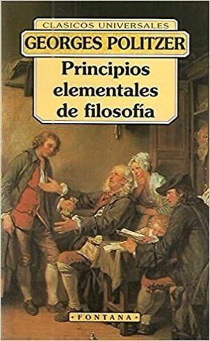 PRINCIPIOS ELEMENTALES DE FILOSOFÍA